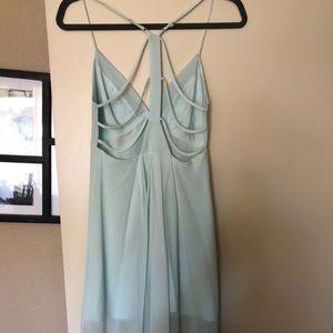 BCBG High-Low Chiffon Dress